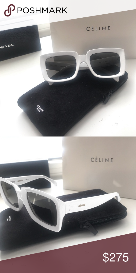 70749a6a9ed1 Celine Sunglasses New Celine Sunglasses Color: White Frame Shape: Square  Box, and Sunglass Case Included! Celine Accessories Sunglasses