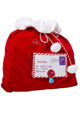 christmas santa sack envelope big w wishlist pinterest
