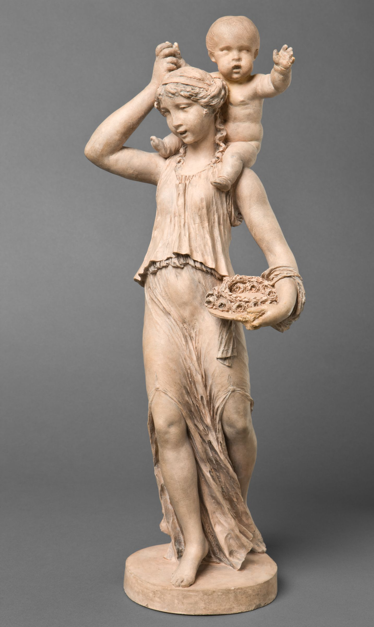 CLODION, Claude MICHEL dit, Young Woman Carrying A Child On Her Left Shoulder harvard
