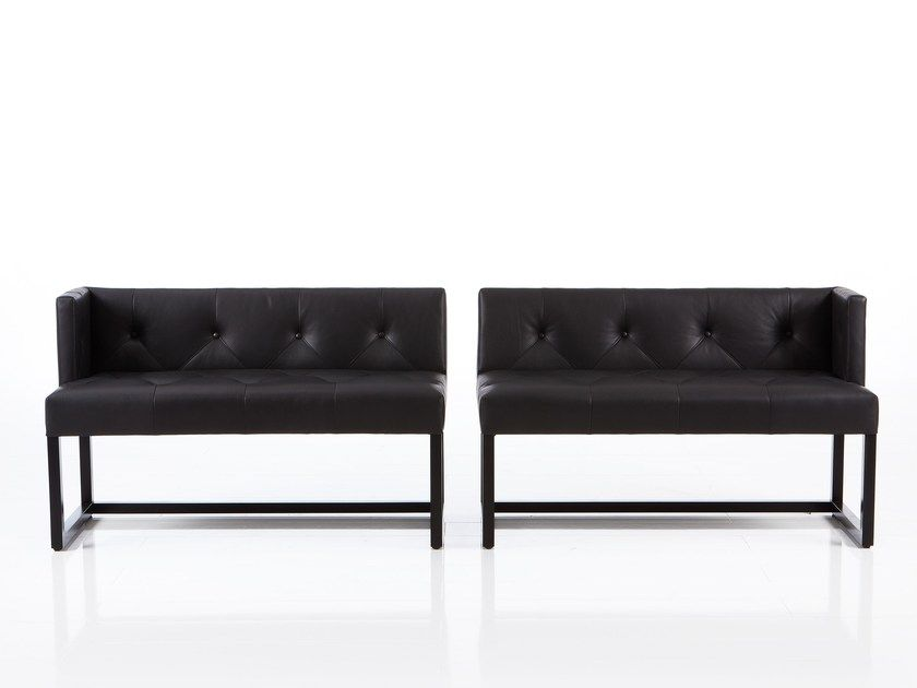 Tufted Leather Bench With Back Belami By
