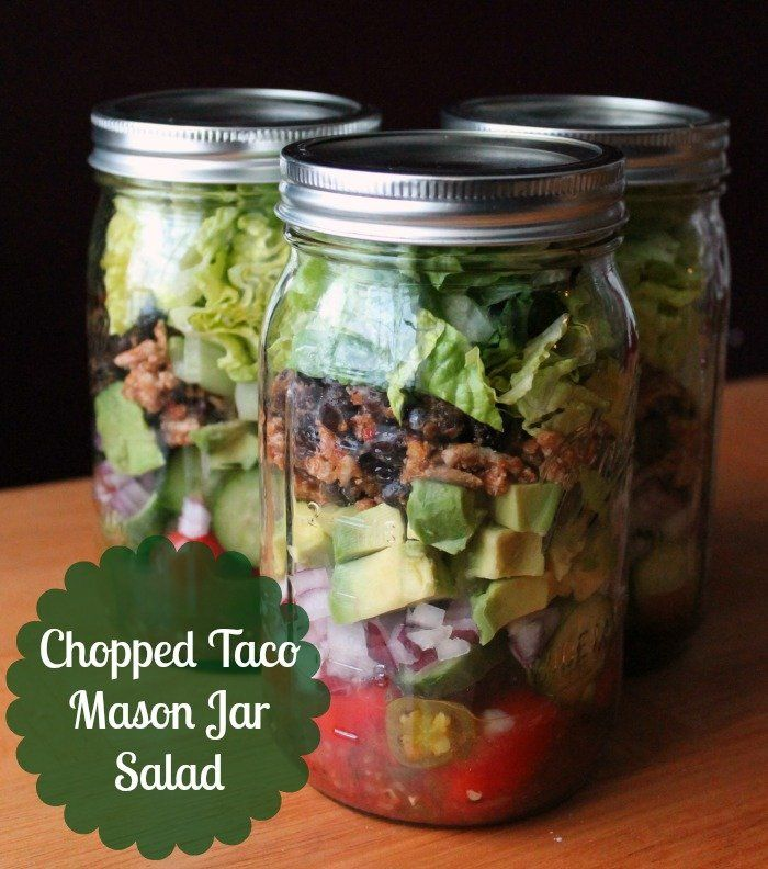 Chopped Taco Salad Recipe In A Mason Jar - Organiz