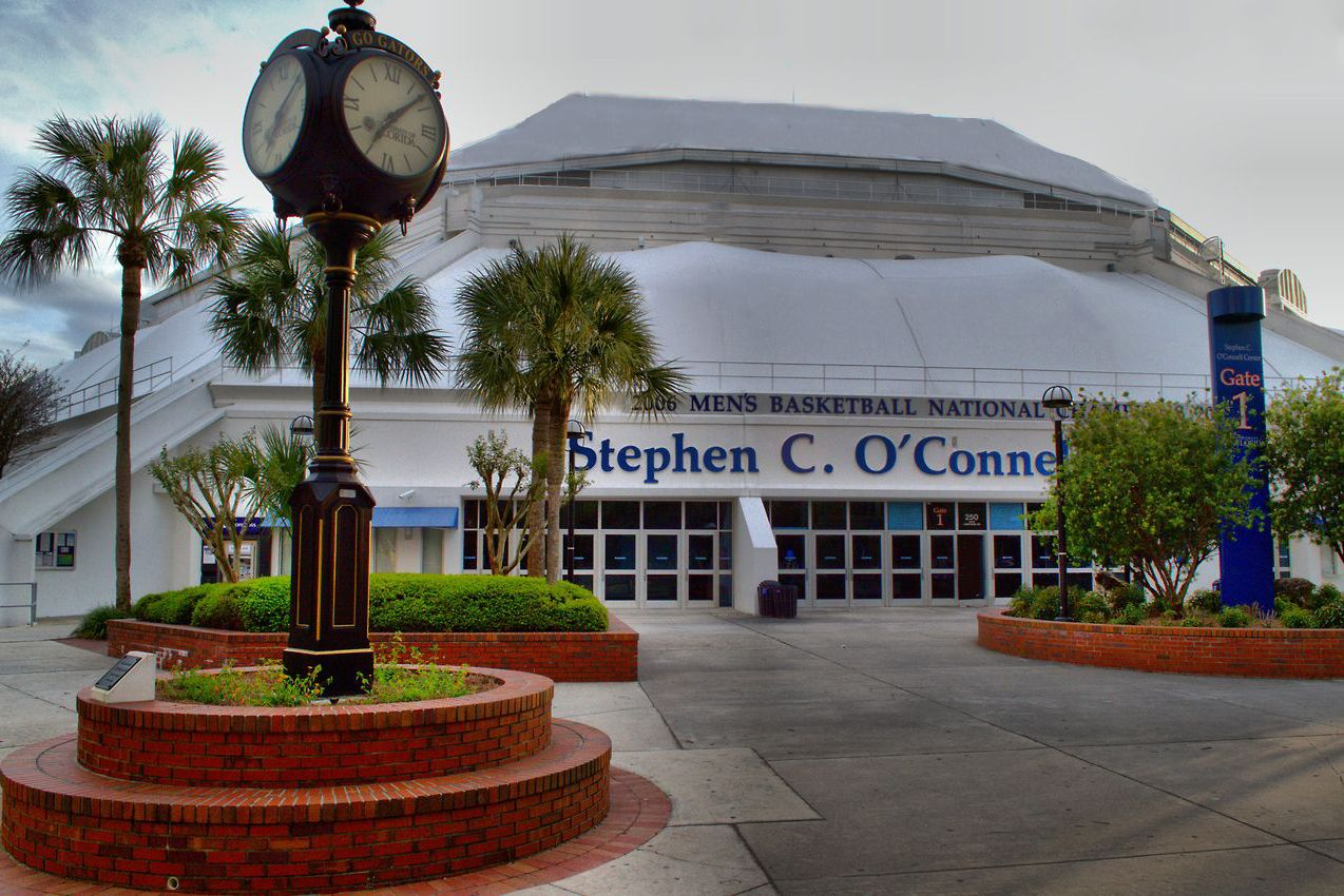 Gate 1 at the Stephen C. O'Connell Center. Photo courtesy