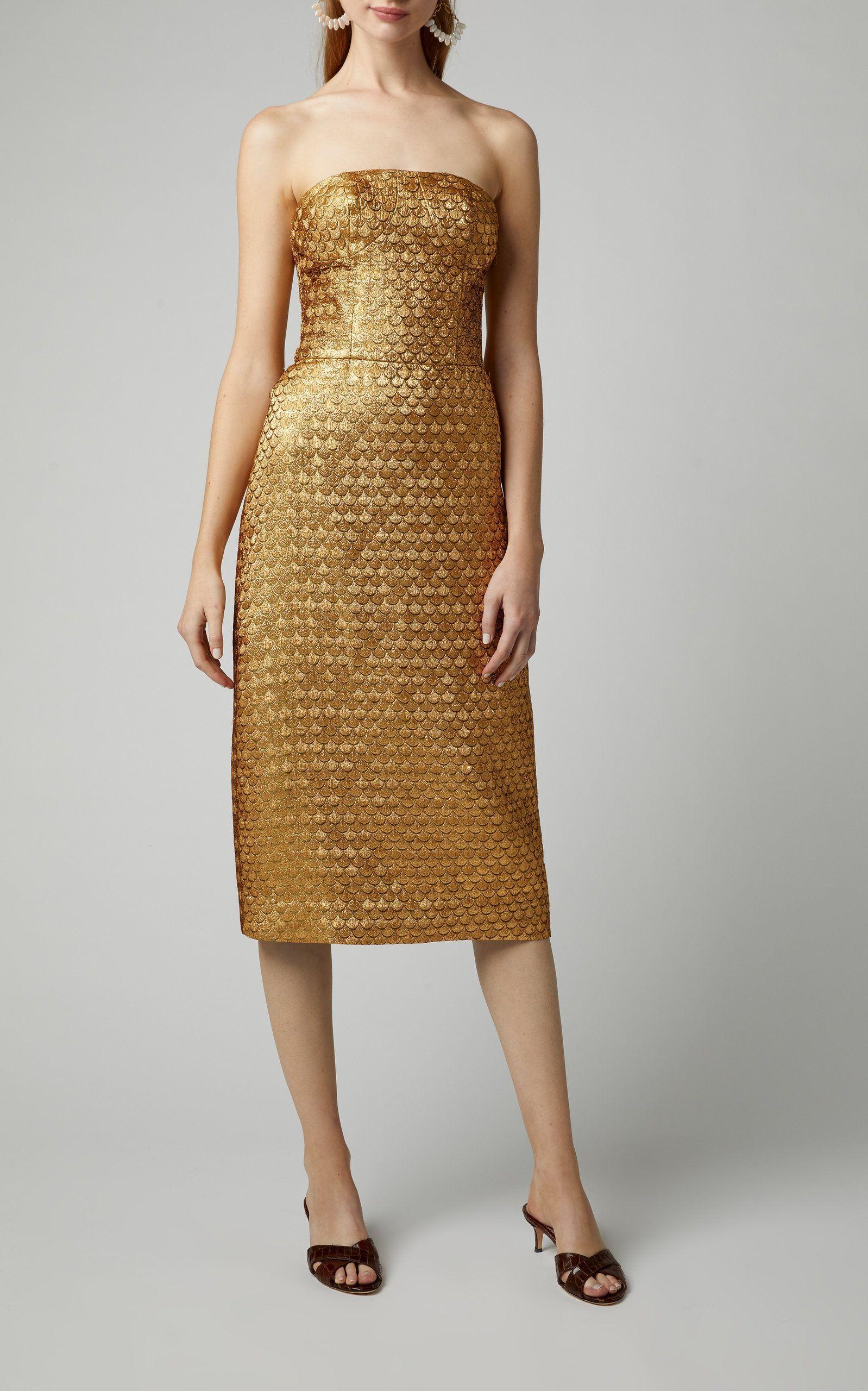 Solid Skinny Strapless Midi Dress For Women Strapless Midi Dress Johanna Ortiz Dresses [ 2560 x 1598 Pixel ]