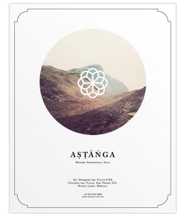 ASTANGA YOGA by Ricardo Ojeda, via Behance Graphic Design - yoga flyer
