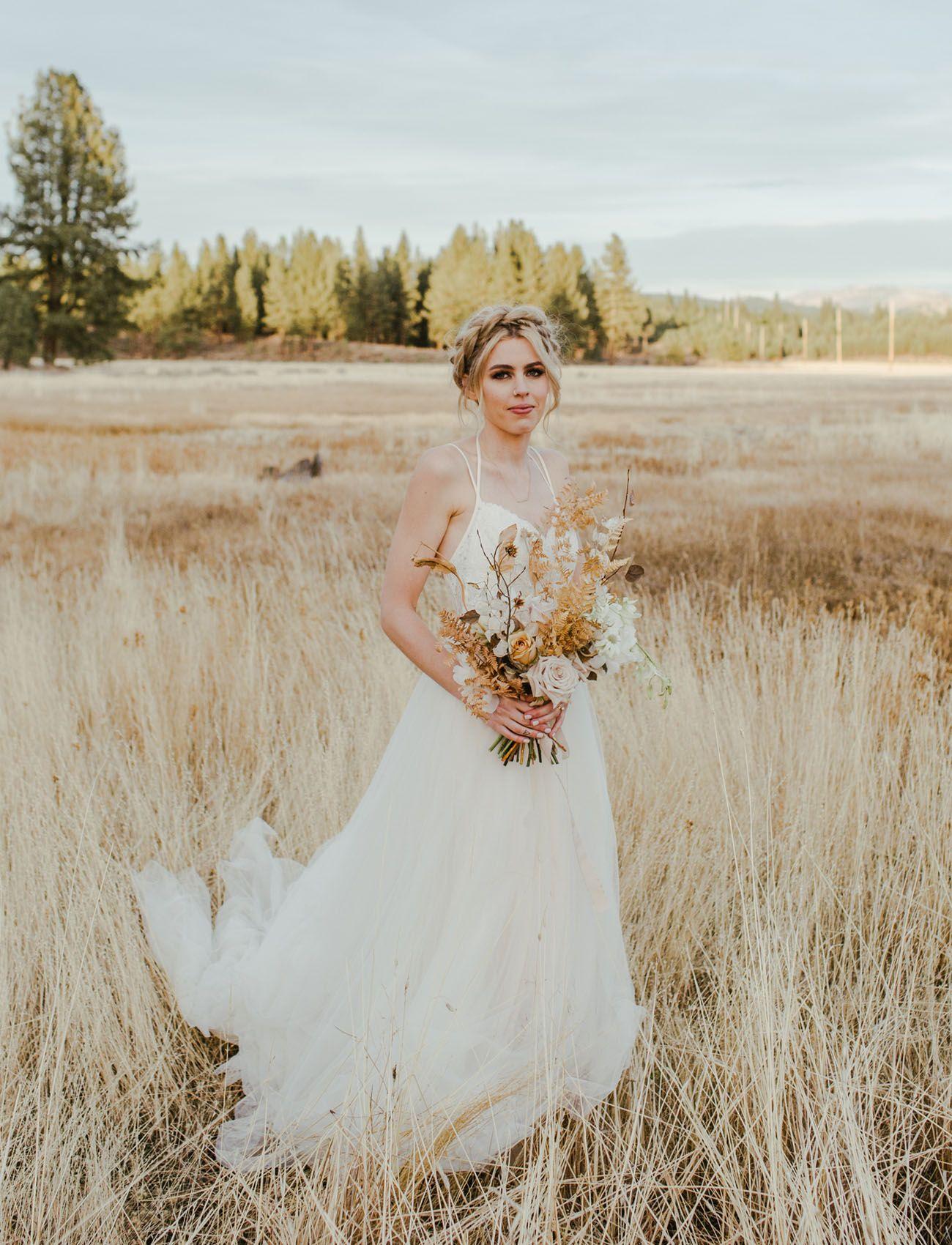 Modern edgy forest wedding in northern california muted wild