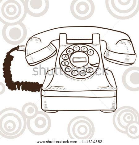 Old Vintage Telephone Illustration With Retro Look Stock Vector Retro Illustration Vintage Telephone Vintage Phones
