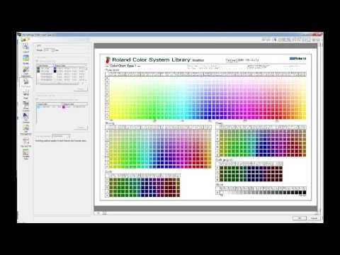 Roland VersaWorks - Printing the Roland Colour Systems Library
