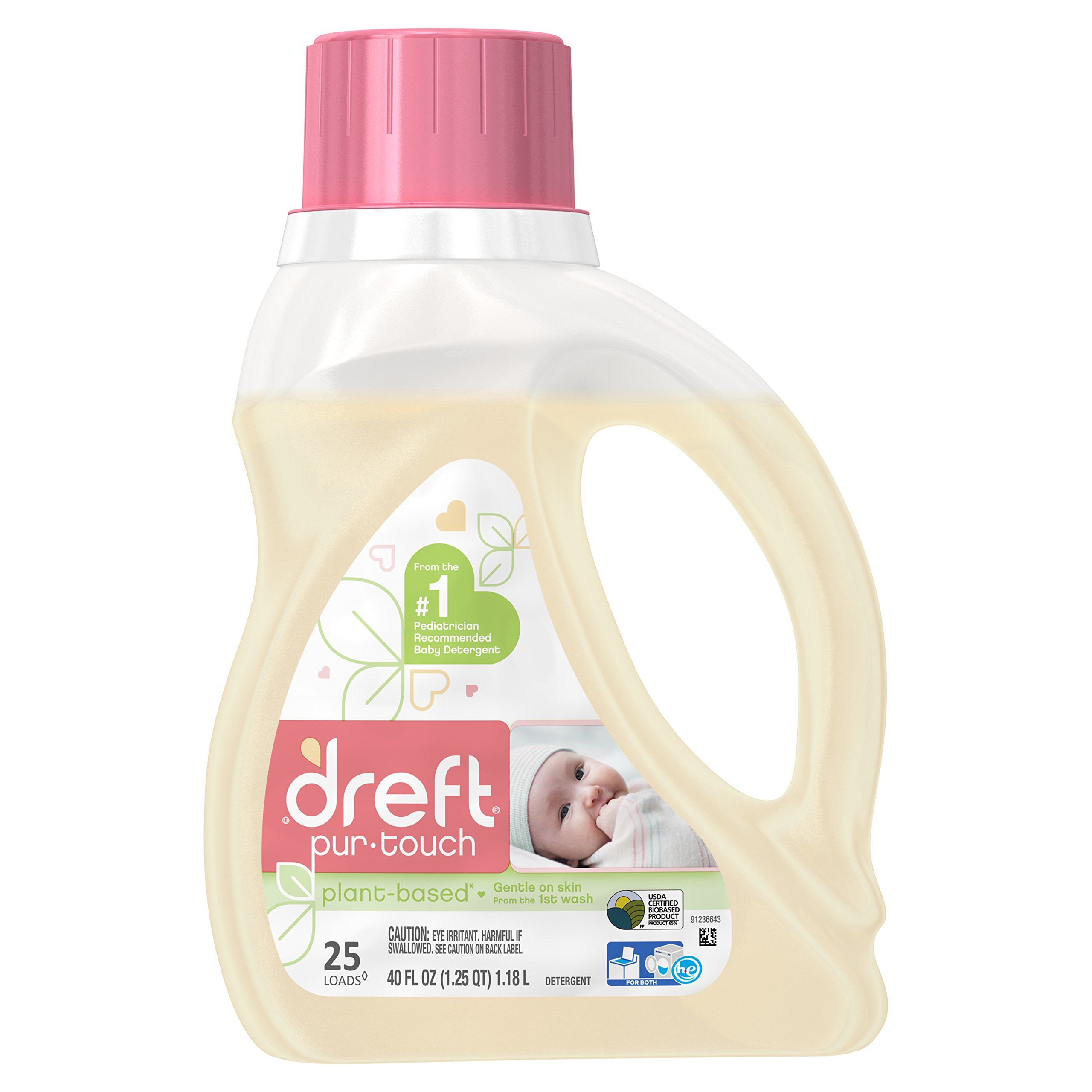 Dreft Purtouch Liquid Baby Laundry Detergent He Hypoallergenic And