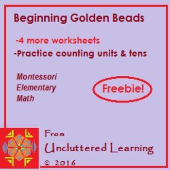 Freebie Beginning Golden Beads 4 Worksheets Common Core Worksheets Montessori Elementary Worksheets Free montessori golden beads worksheets
