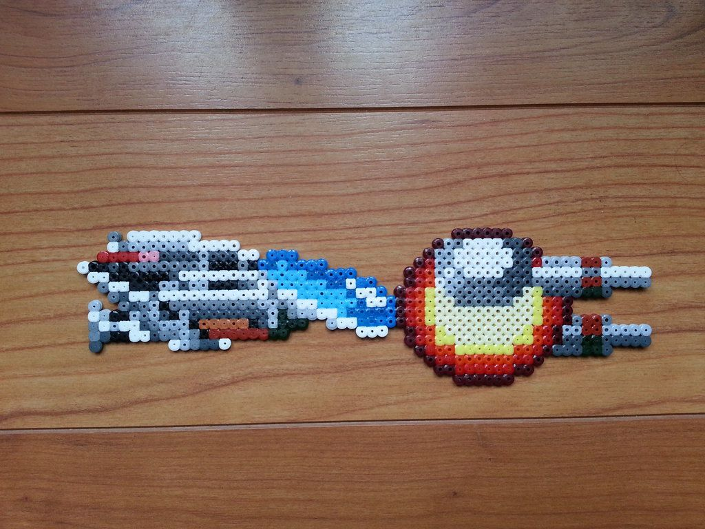 R-type ship hama beads by masquedemort | art ref project ...