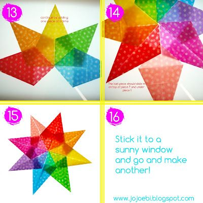 Step by step: How to make a huge 3d star from paper for Christmas ... | 400x400