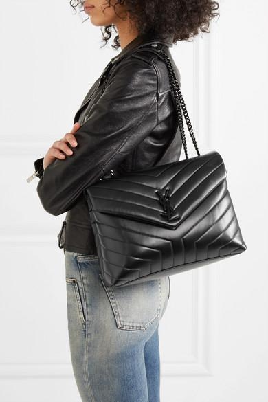 Black Loulou Medium Quilted Leather Shoulder Bag Saint Laurent Ysl Bag Black Ysl Crossbody Bag Fashion