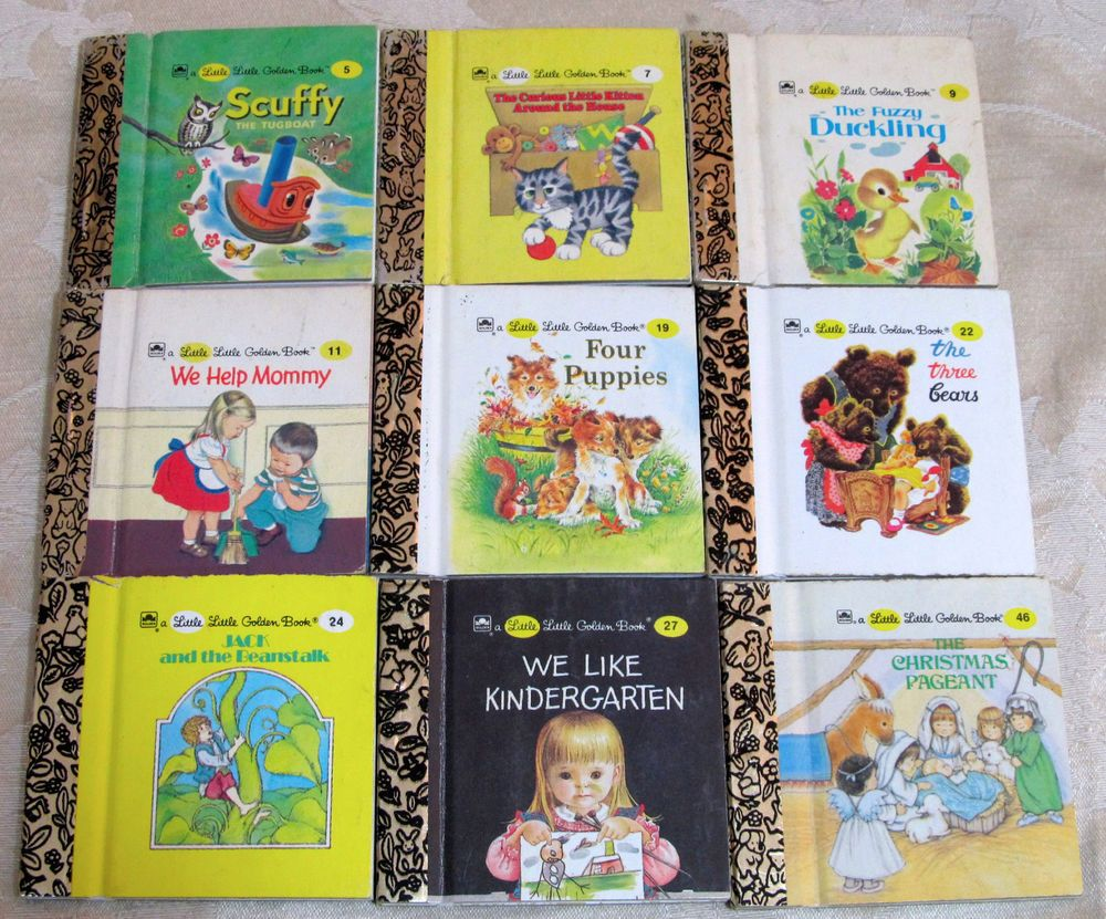 Little Golden Books - Lot of 5 - Kittens, Grover, Tweety, Mermaid, etc.