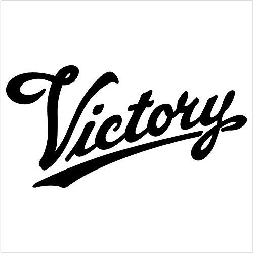 Victory Motorcycle Black Decal Car Truck Window Sticker R