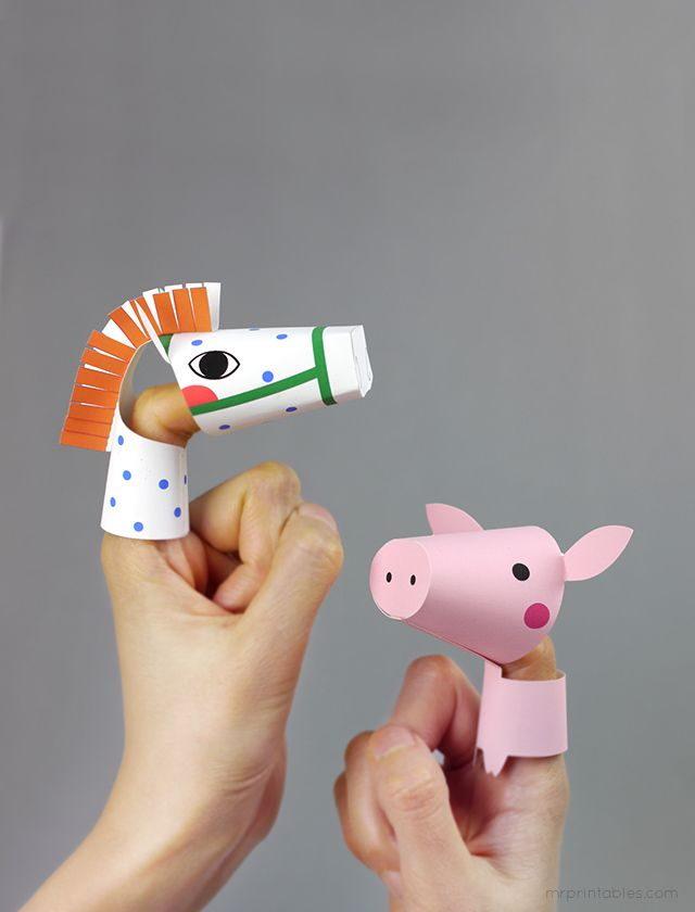 Перчаточная кукла своими руками - Игрушки своими