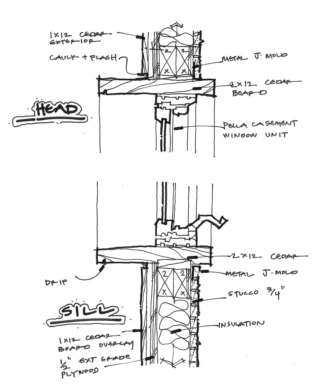 Build wood window casement google search woodworking for Bay window plan detail