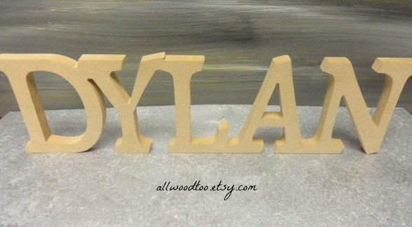 Personalized Name Signs Custom Plates Children Baby Letters Wooden