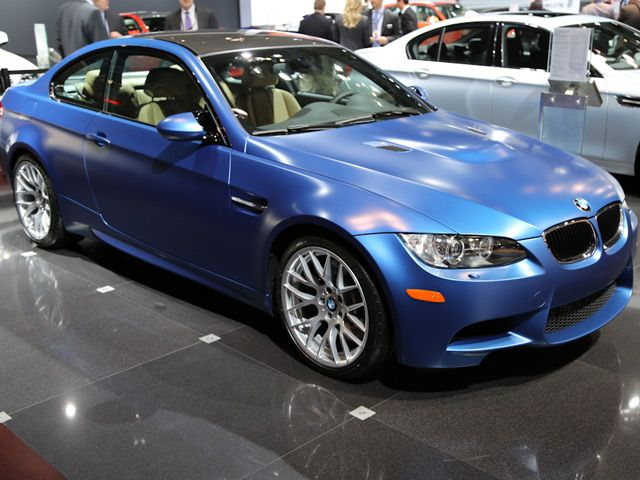 Bmw Display Frozen Monte Carlo Blue M3 At Ny Auto Show With