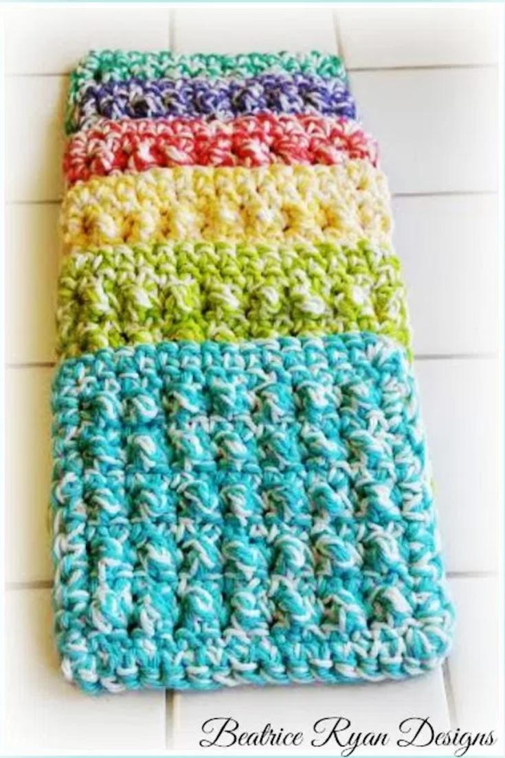 Thick & Quick Bumpy Scrubby Crochet Pattern - Flash CAL | crochet ...