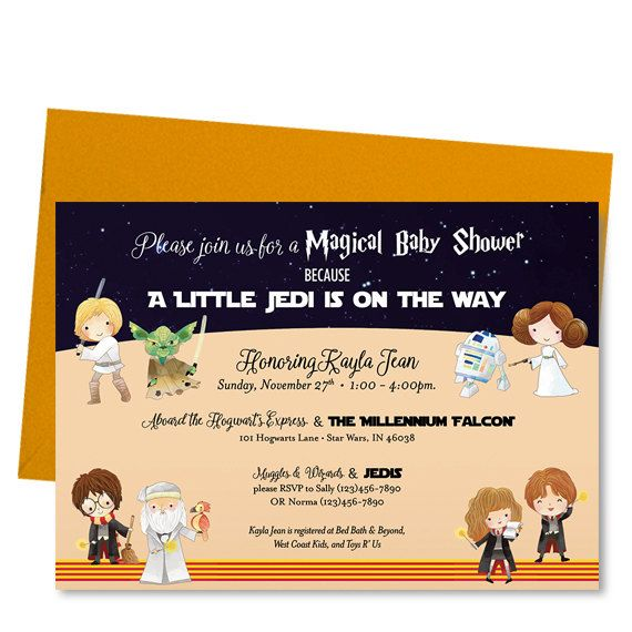 Wizard Kid Star E Baby Shower Invitation Invite