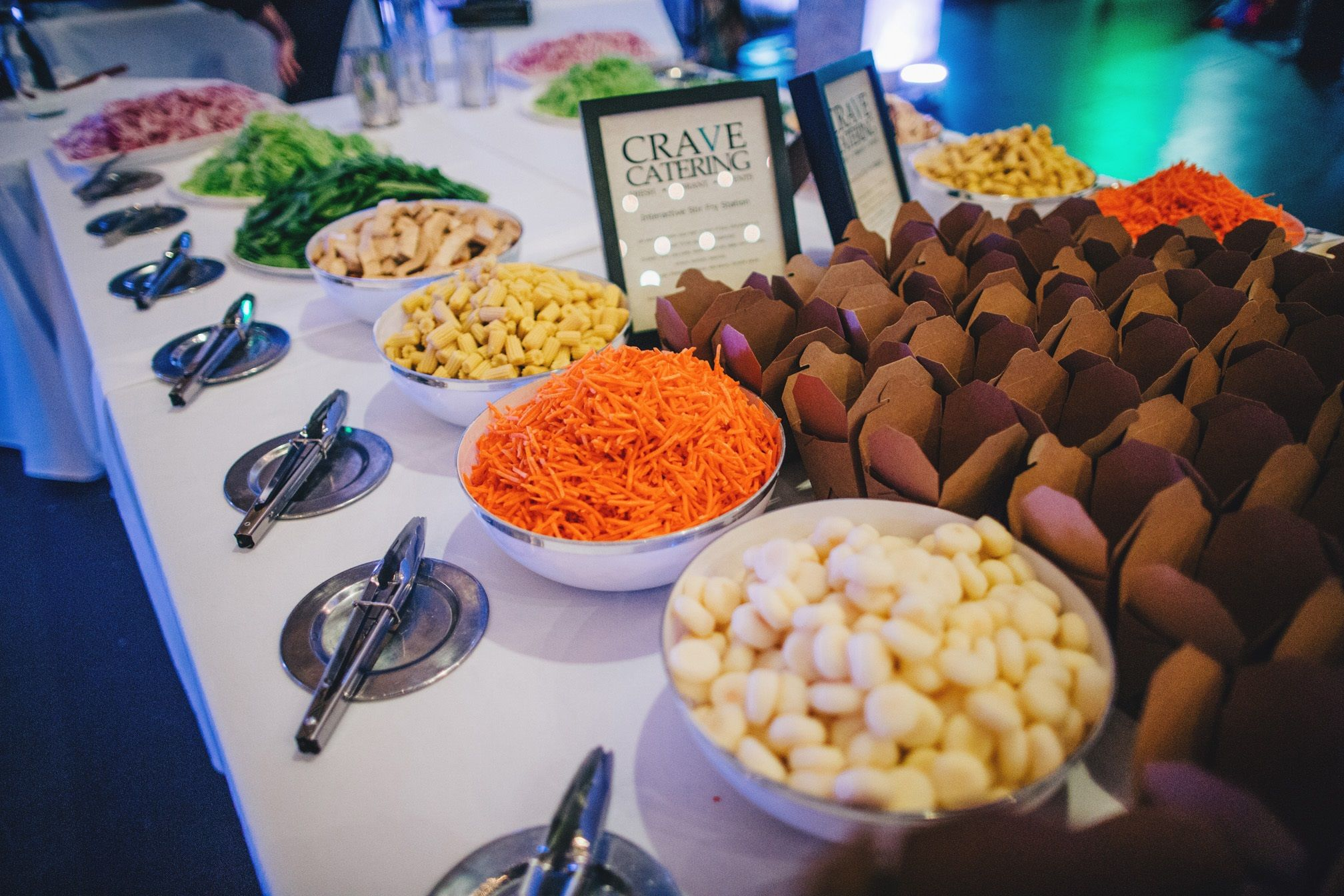 Crave Catering S Interactive Wok Station Matt Lien Photography Catering Cravings Food