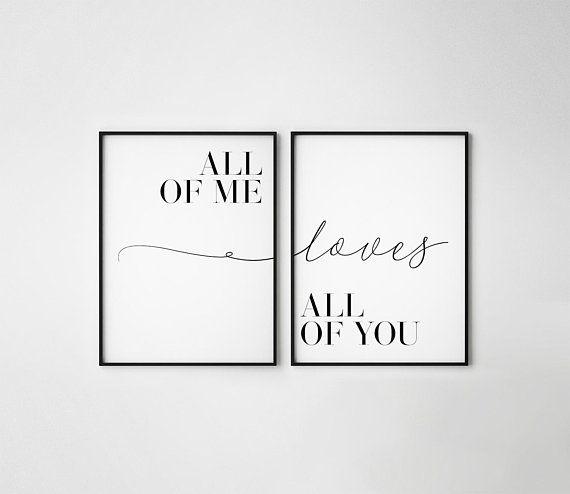 Ich alle liebt euch alle, Satz 2, Paardruck, Paarplakat, Liebeszitat, Bedzimmerdruck, Jubiläumsgeschenke, Liebesdruck, Liebesposter