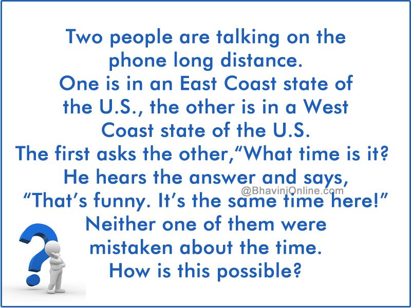 Logical Riddle How Is The Time Same In Different Time Zones