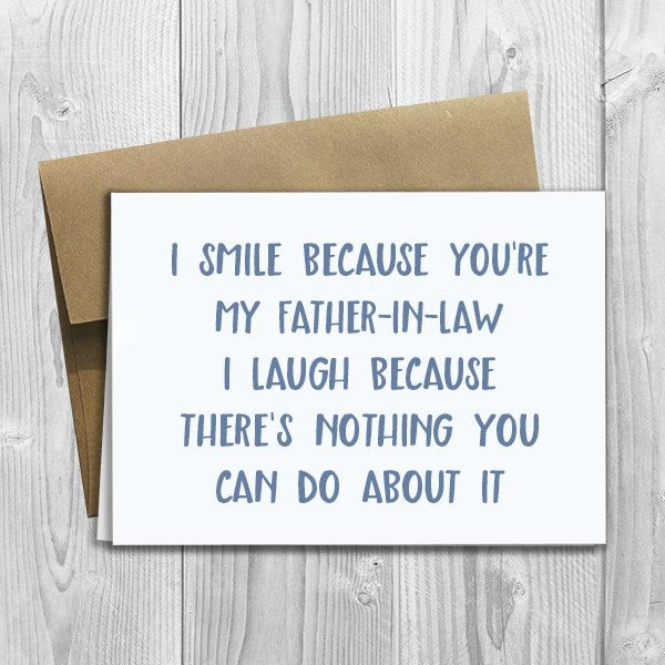 Printed I Smile Because Youre My Father In Law 5x7 Greeting Card