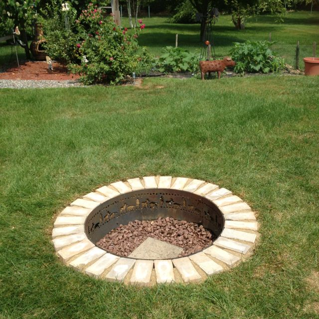 In Ground Firepit: Favorite Places & Spaces