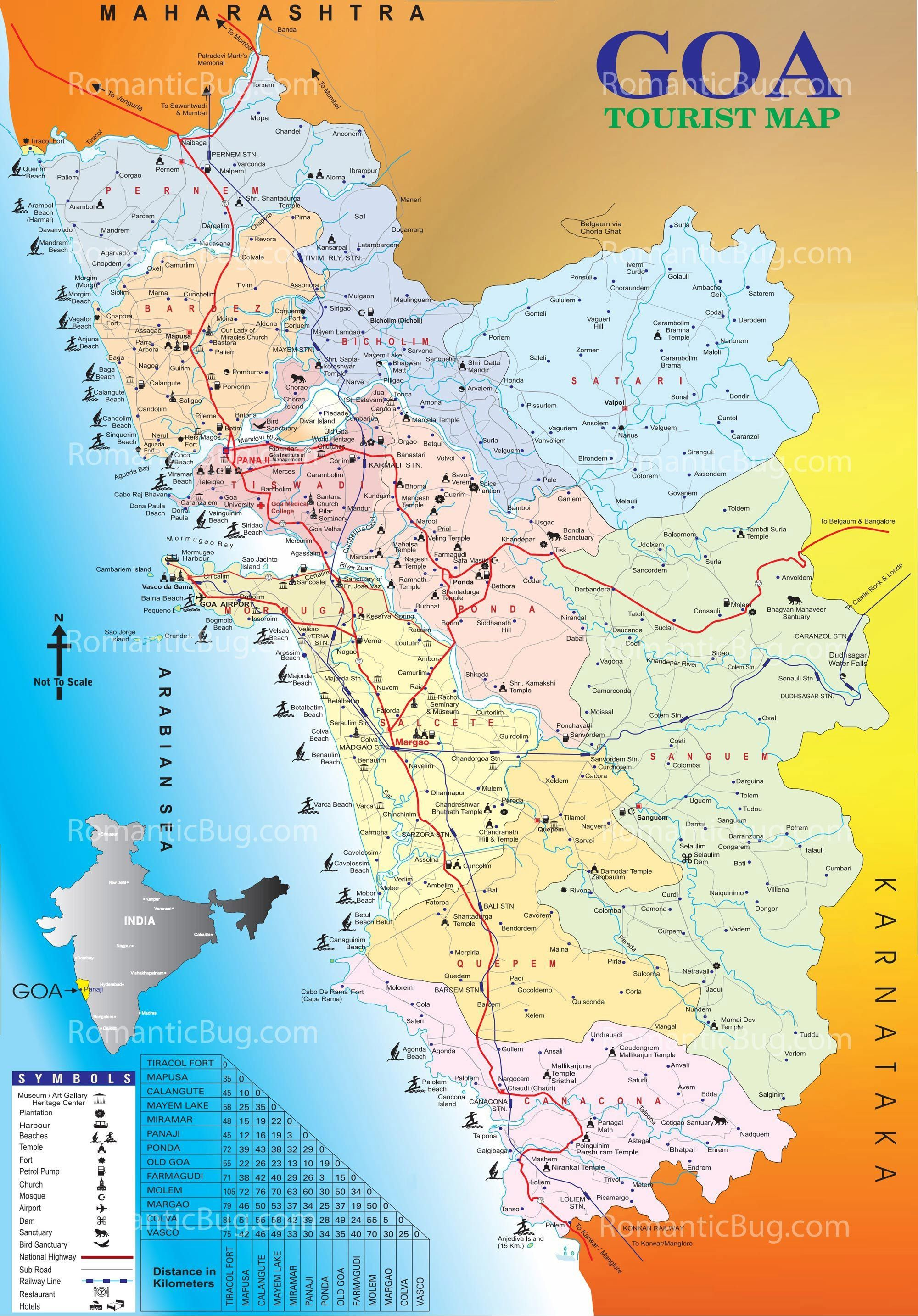 Download Free Tourist Map of Goa - Complete Goa Tourism Map