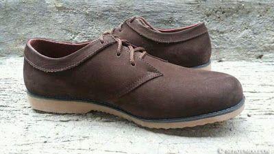 Sepatu Kulit Casual Pria Navas Warna Coklat Moo Sepatu Kulit