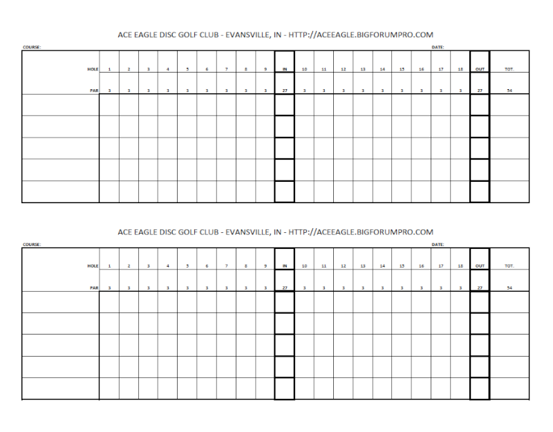 department scorecard template - blank golf scorecards printable blank golf scorecard