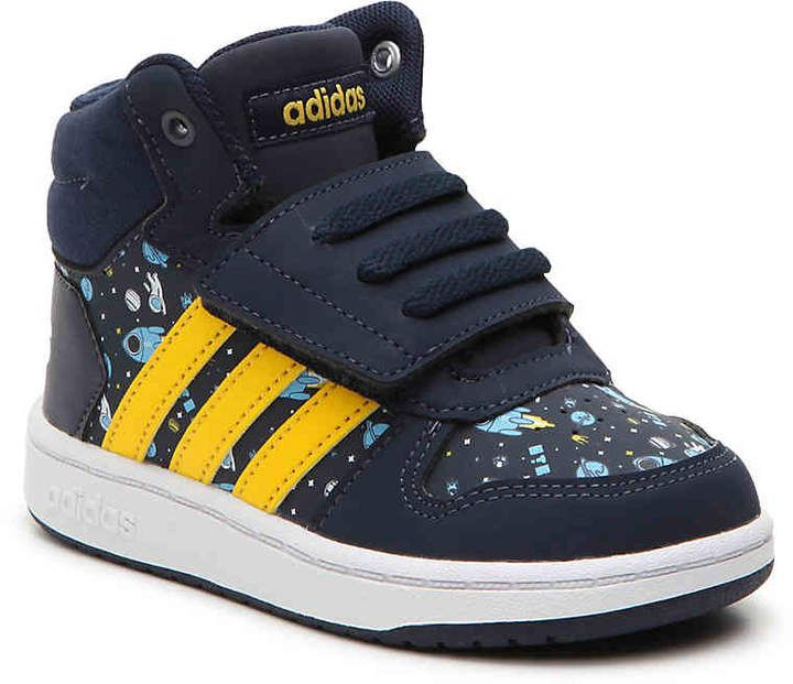 adidas Boys Hoops Mid 2 Toddler High-Top Sneaker a799bc877