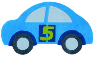 Kids Rugs - Blue Car 155x90cm
