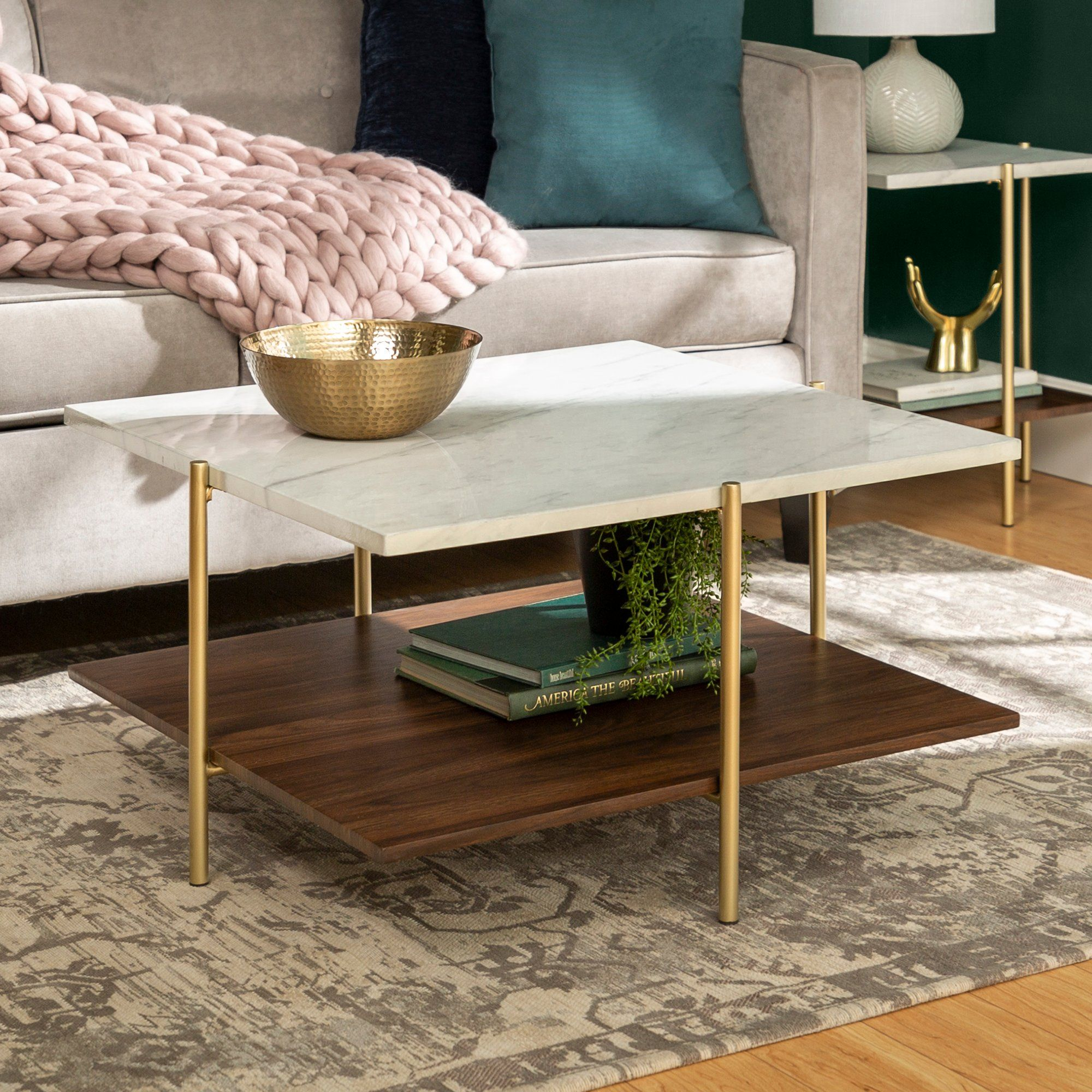 Mid Century Marble And Gold Coffee Table Simone Gold Coffee Table Faux Marble Coffee Table Coffee Table [ 2000 x 2000 Pixel ]