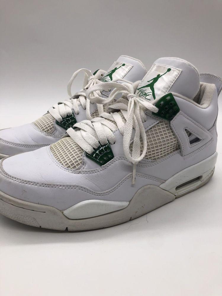 more photos d7334 dd201 2004 Nike Air Jordan IV 4 Retro Men Sz 10.5 OG White Chrome Green Athletic  Shoes