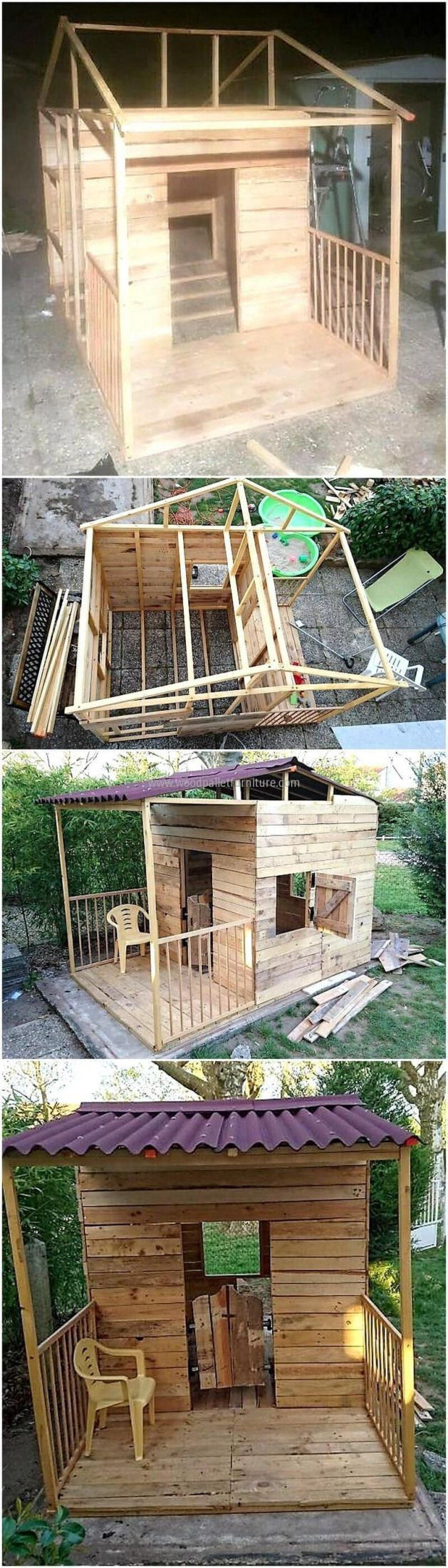Craft patio play house for your kids in economical way Crafting an art from the