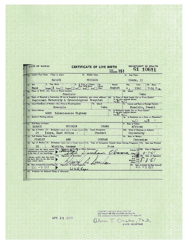 HERE IS PROOF! OBAMAu0027S BIRTH CERTIFICATES BY AMERICAS FREEDOM - copy california long form birth certificate