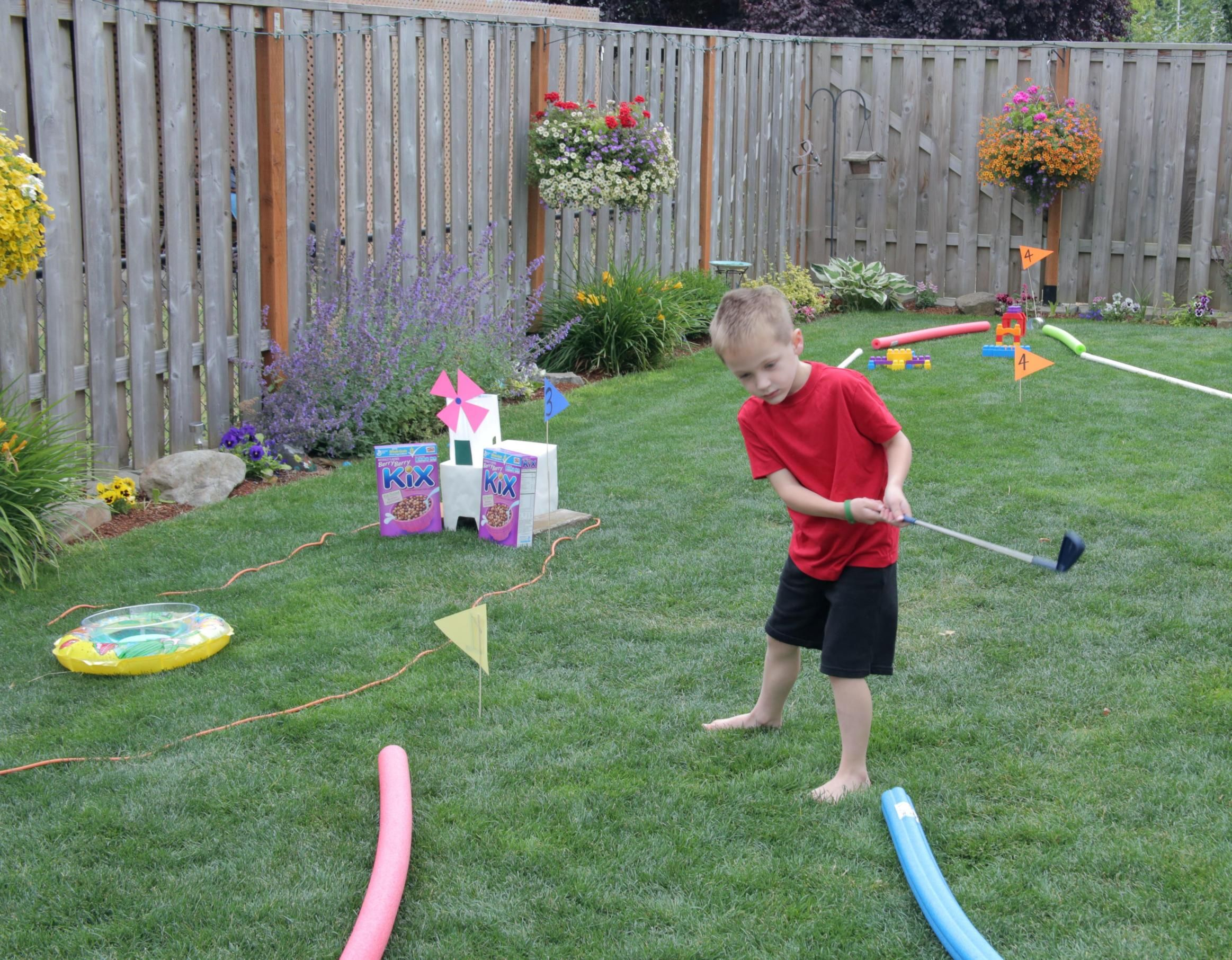 Bon Outdoor Fun: Backyard Mini Golf Course · Kix Cereal