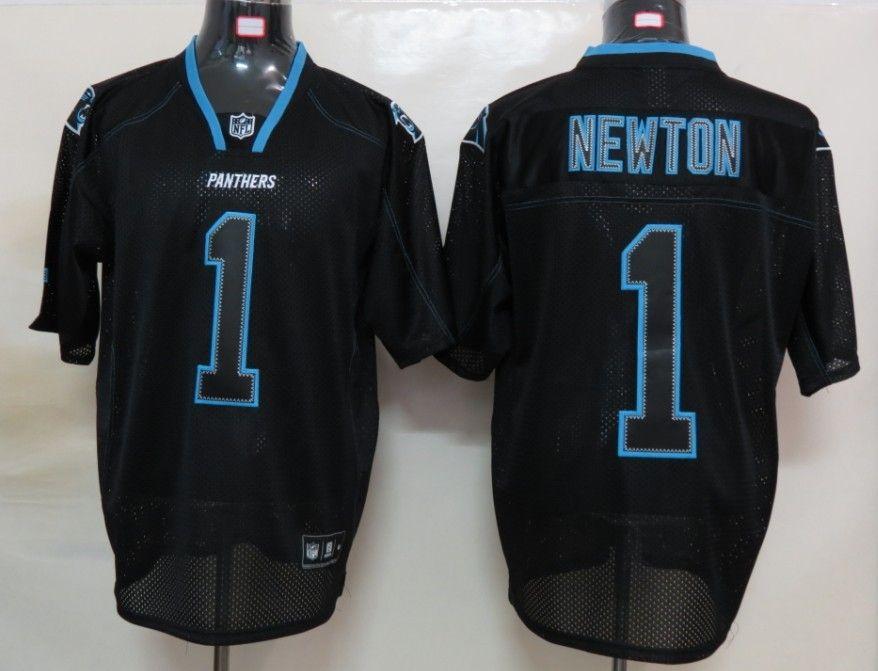 best website 70e09 2de4b cheap newton black jerseys nike carolina panthers 1 lights ...