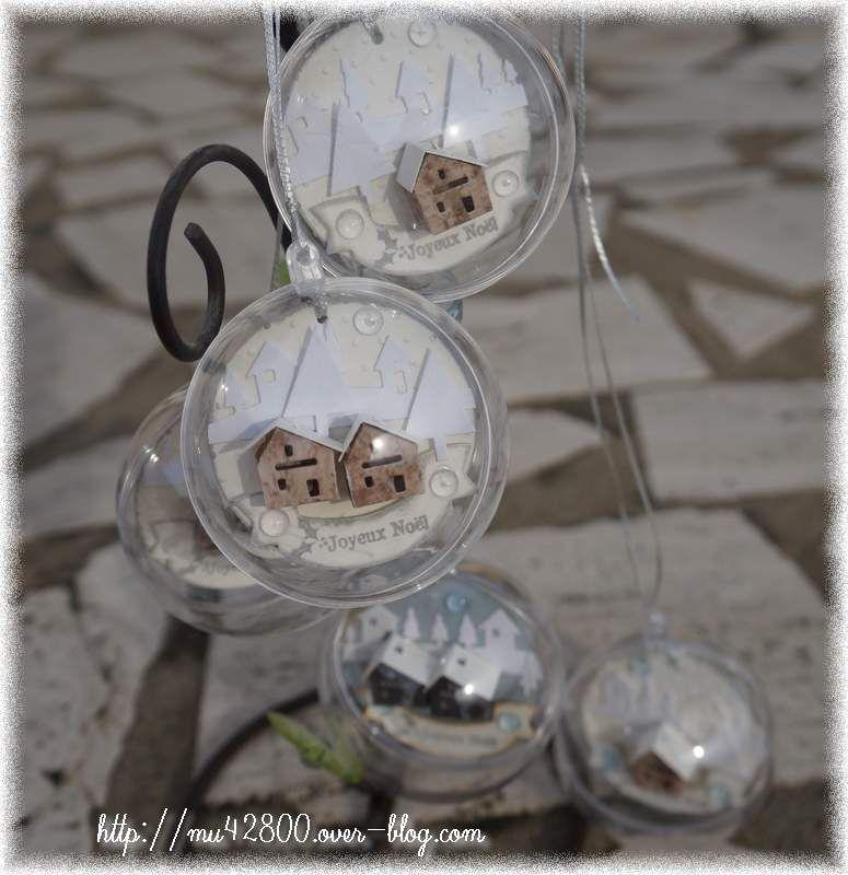 déco ] boules transparentes de Noël   Un peu de scrap . | Boule