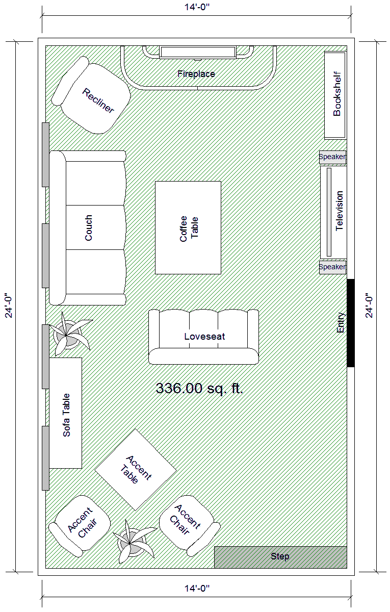Layout Possibility For Living Room Family