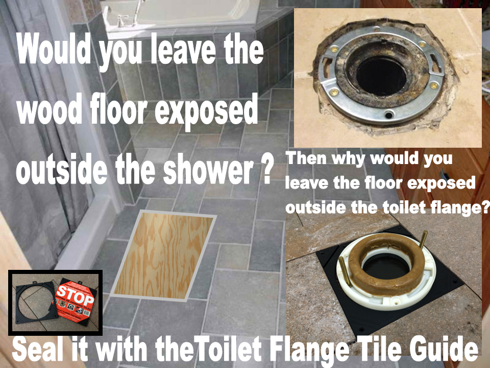 Toilet flange tile guide seals the area around the flange protecting mold and water damage specialists removal and remediation solutioingenieria Images