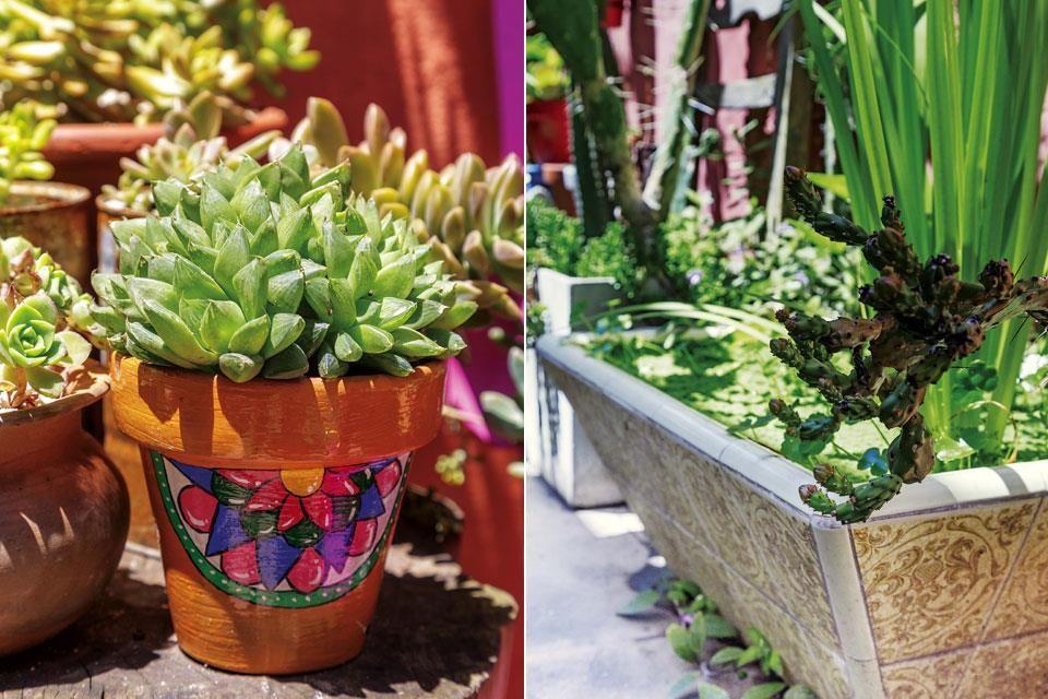 Un jard n dise ado con objetos reciclados deco terrazas - Estanque terraza piso ...