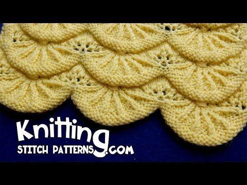 Alsacian Scallops   Pretty Lace Knitting #14 - YouTube #prettypatterns