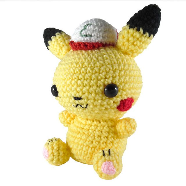 http://www.ravelry.com/patterns/library/pokemon-pikachu-with-ash-hat ...