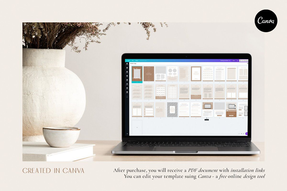 Wellness Challenge Creator CANVA in 2020 Workbook