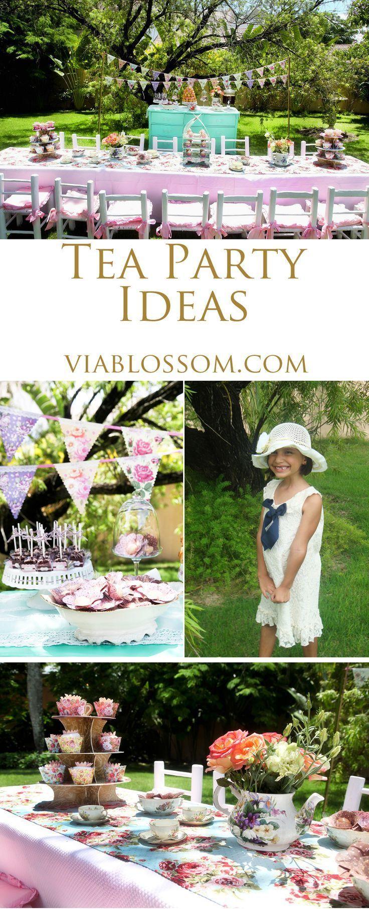 Scrumptious Tea Party - Via Blossom Tea Party Ideas | Tea party ...