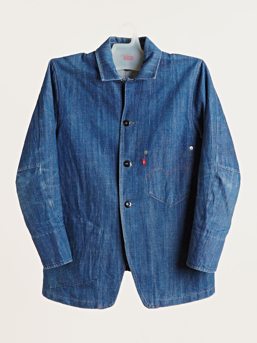 Levi S Red Archive Men S Blue Print Denim Jacket Worker In 2018