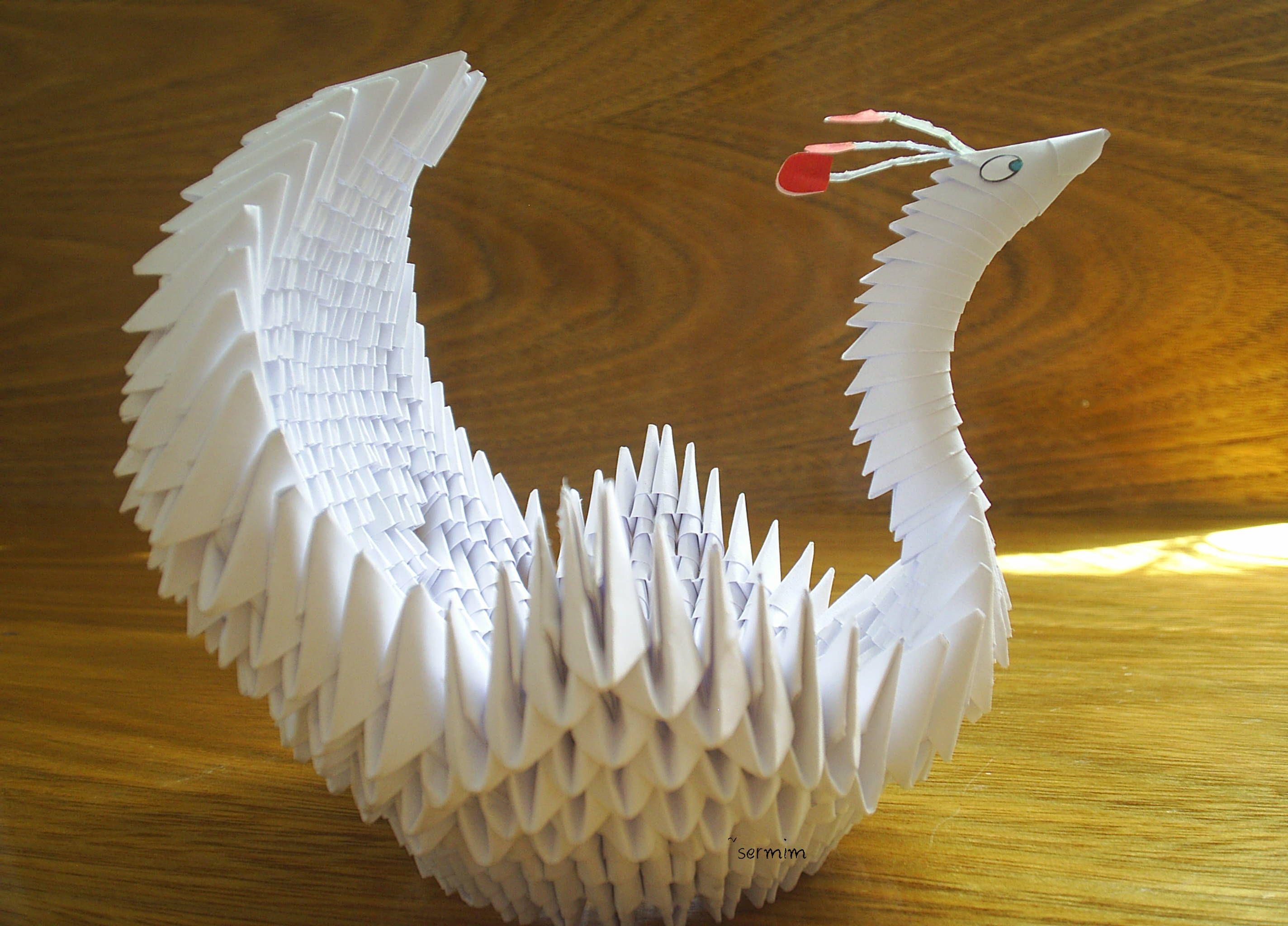 paper folding swan | paper art | Pinterest | Paper folding and Craft